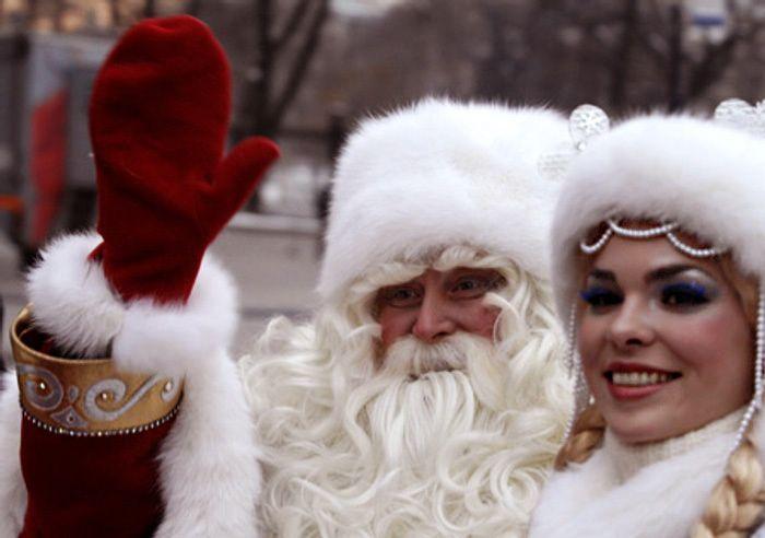 Новый год, зима в Москве, ВДНХ, Дед Мороз, снегурочка