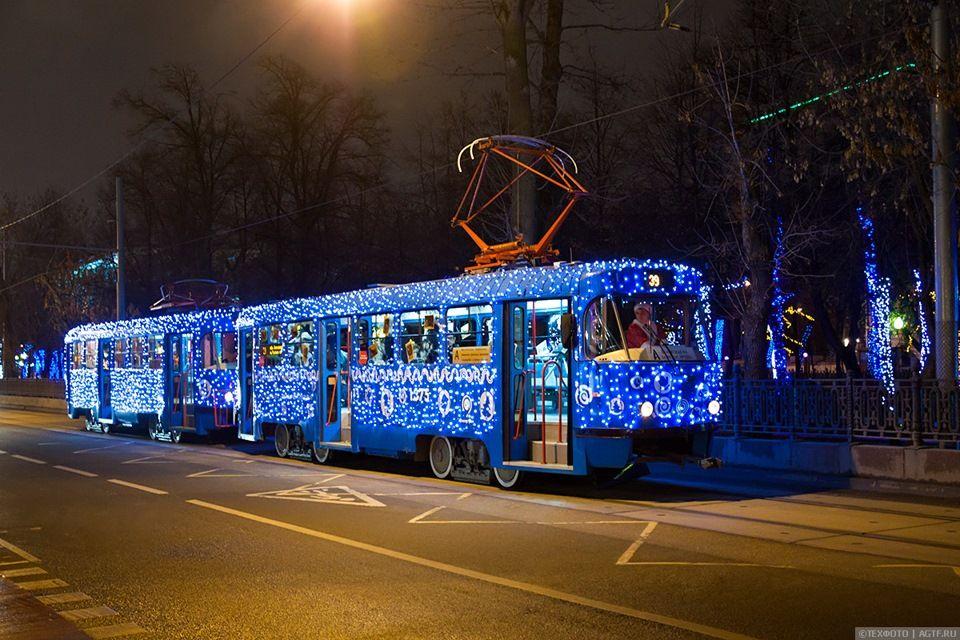 трамвай, новый год