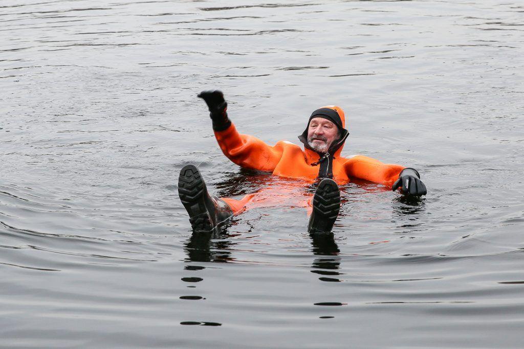 спасатели, костюм, Серебряный бор, тонущий, лед, зима в Москве
