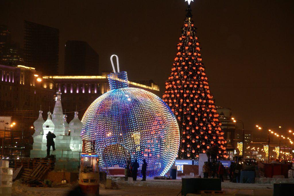 украшение Москвы, зима в Москве, Новый год, шар