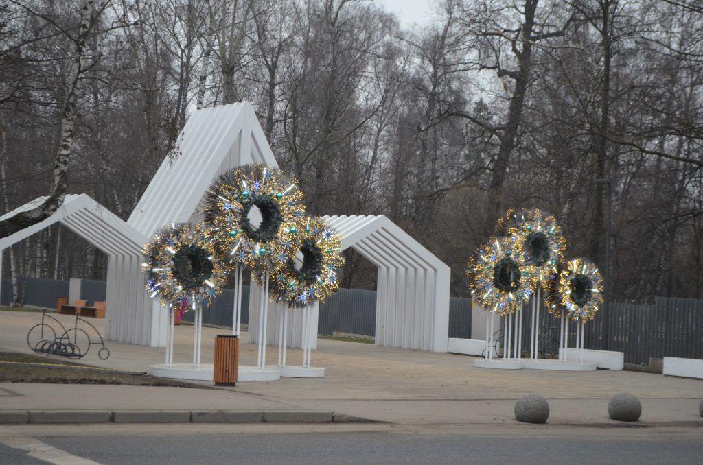 Лианозовский парк, новый год, украшение Москвы, парки Москвы