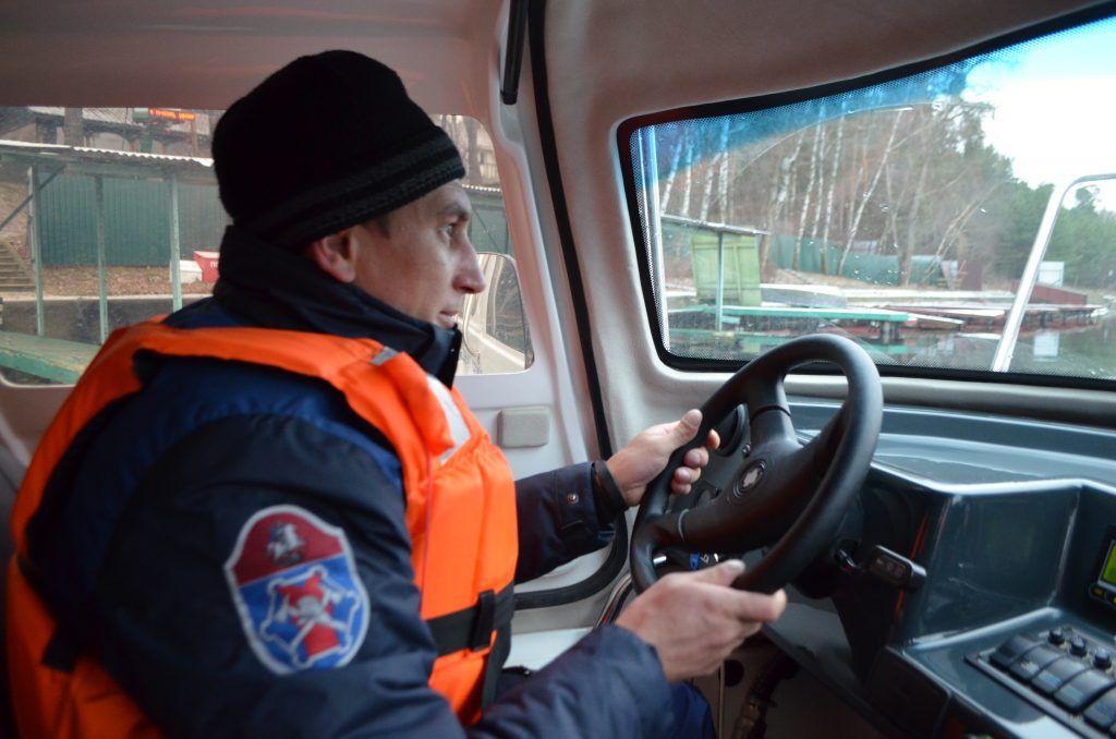 спасатели, Серебряный бор, зима в Москве, лед