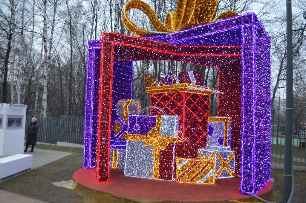 Новогодние инсталяции, Лианозовский парк, новый год, украшение Москвы, парки Москвы