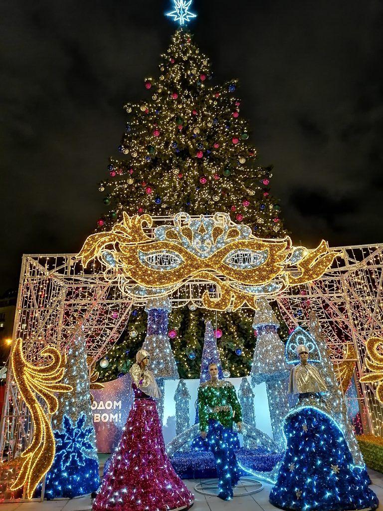новый год, украшение Москвы, елка