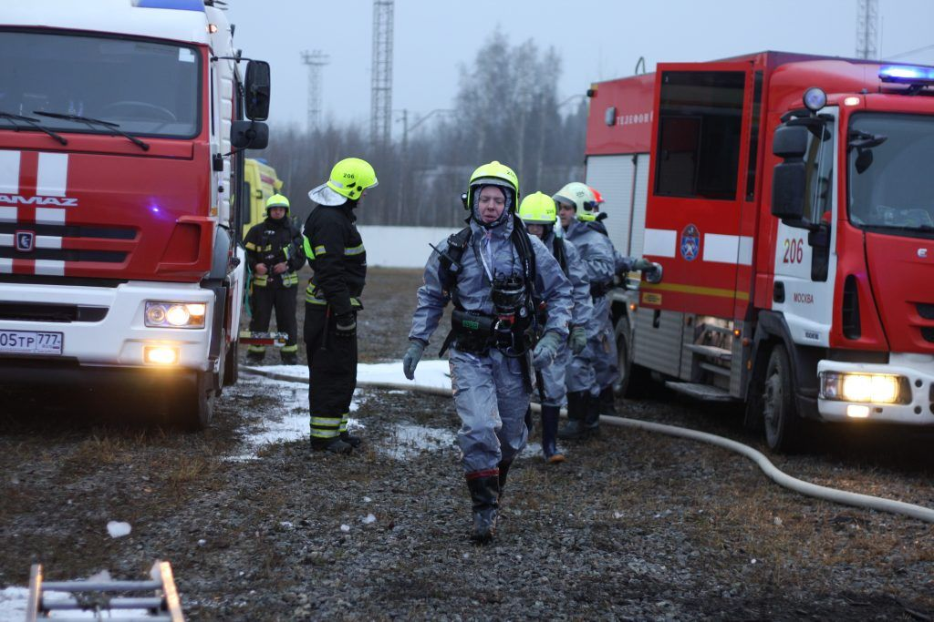 спасатели, пожарные, учения, ДТП