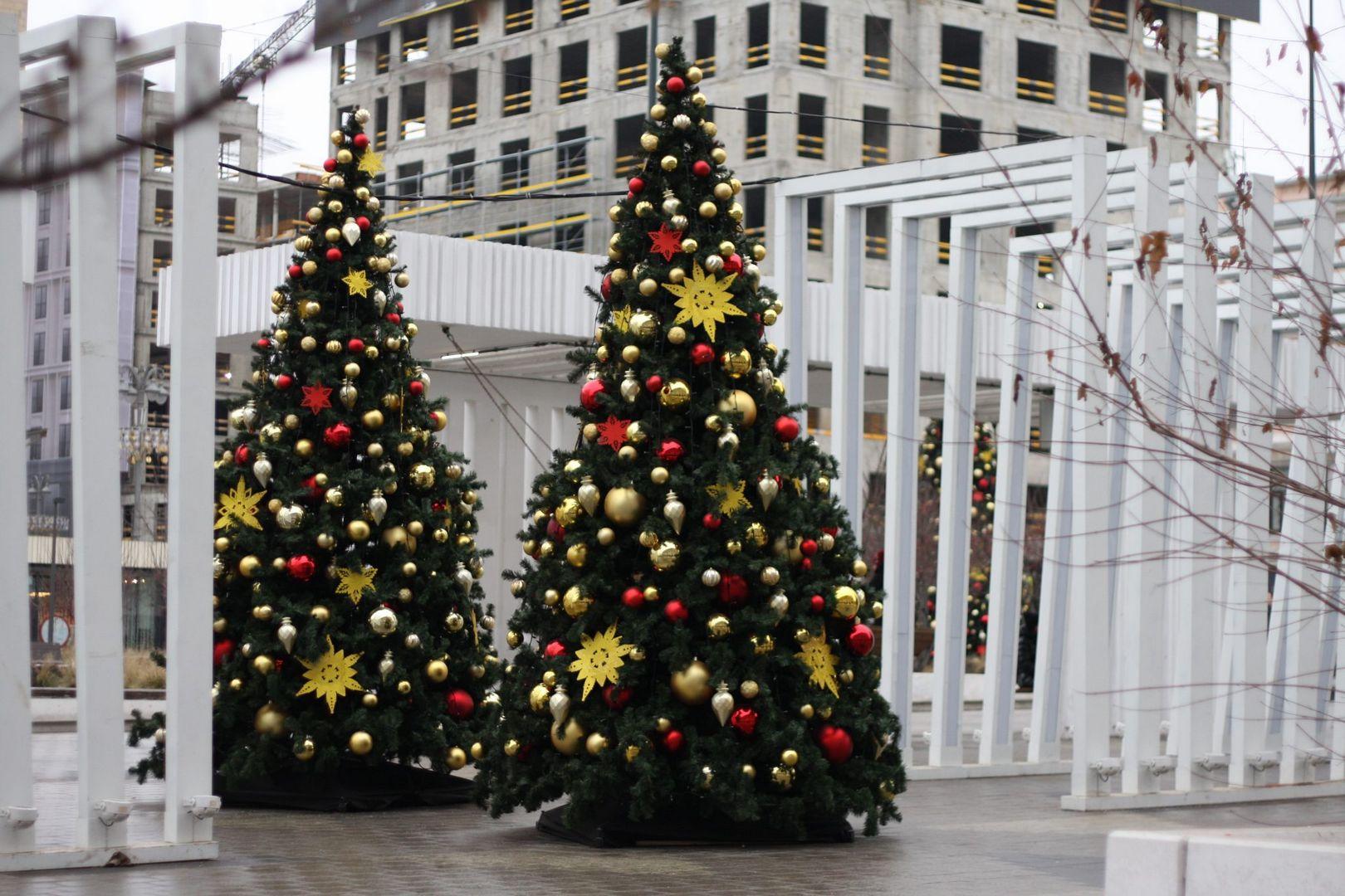 новый год, елка, украшение Москвы,зима в Москве