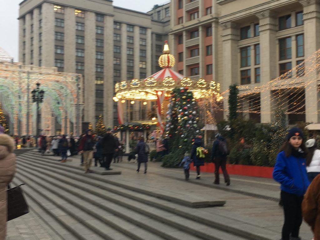 новый год, Украшение Москвы