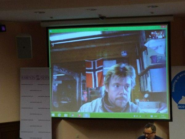 """Один из лидеров экологического движения """"Зеленые воины Норвегии Рубен Оддекалв вышел на прямую связь с журналистами Москвы и ответил на интересующие их вопросы."""