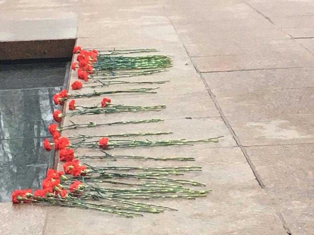 вечный огонь, возложение цветов, делегация