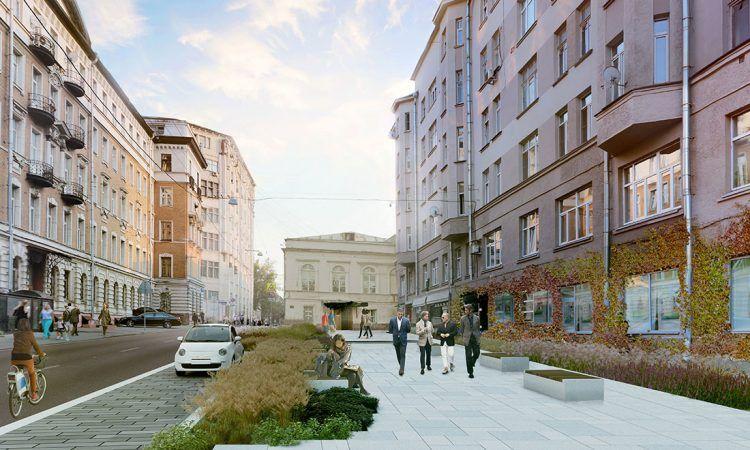 Работа по благоустройству улиц и переулков в ЦАО продолжится в следующем году