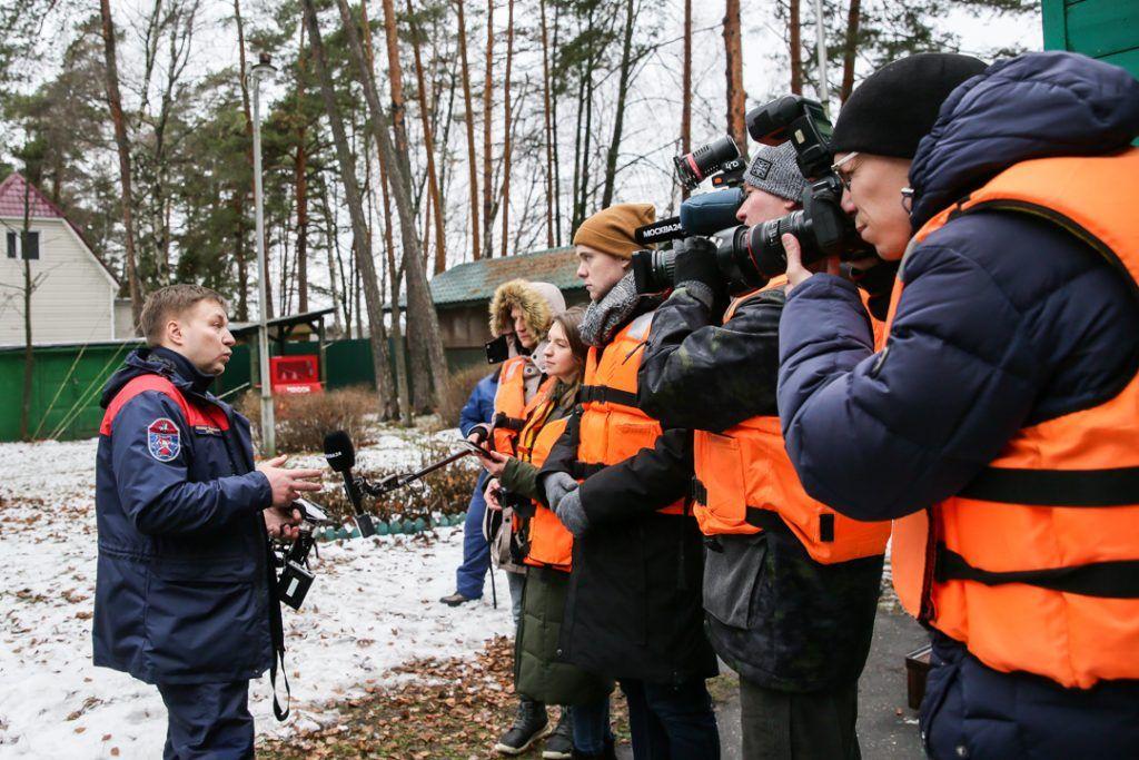 Департамент ГОЧСиПБ, спасатели, журналисты