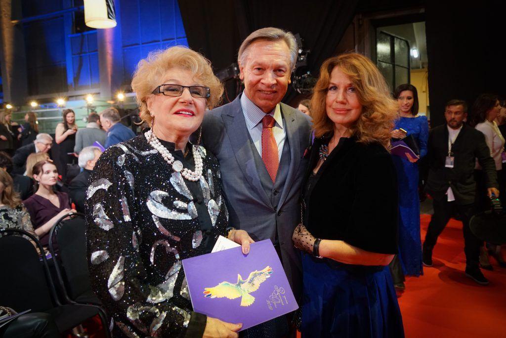 Светлана Дружинина и Алексей Пушков с супругой