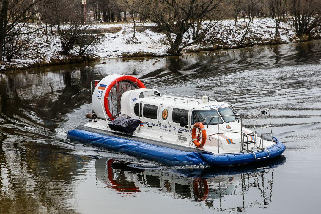 спасатели, река, зима
