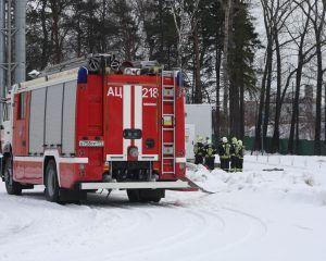 пожарная часть, пожарная машина