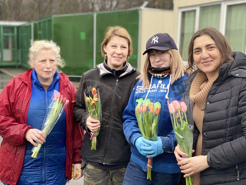 8 марта, праздник, цветы, Молсовет, ДЖКХ