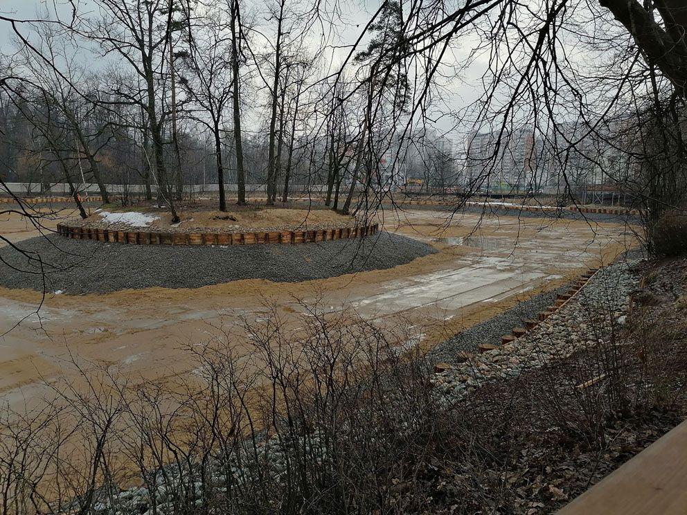 Большой Старомарковский пруд, реконструкция