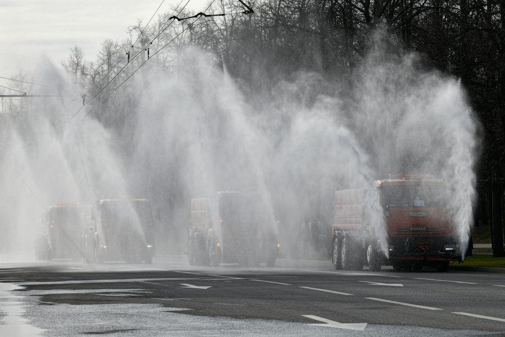промывка дорог, дезинфекция