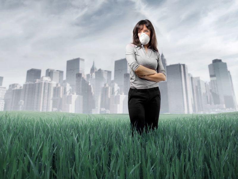 воздух, чистота воздуха, загрязнение, город