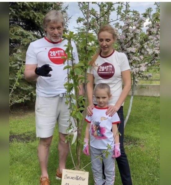 Дмитрий Песков и Татьяна Навка с Надеждой Песковой