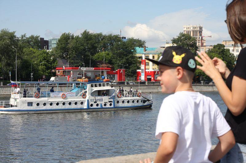 москва-река, навигация, причал