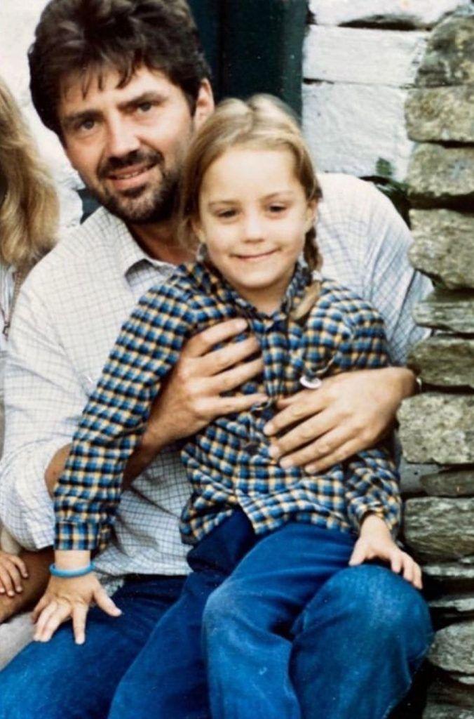 Майкл Мидлтон  с его дочерью Кэтрин