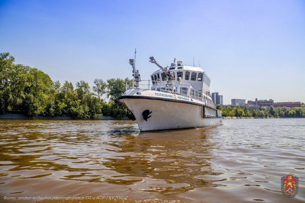 Пожарно-спасательноый центр, спасатели, пожарные, Москва-река, корабль