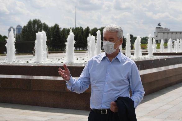Открытие фонтанов в Москве, фонтан
