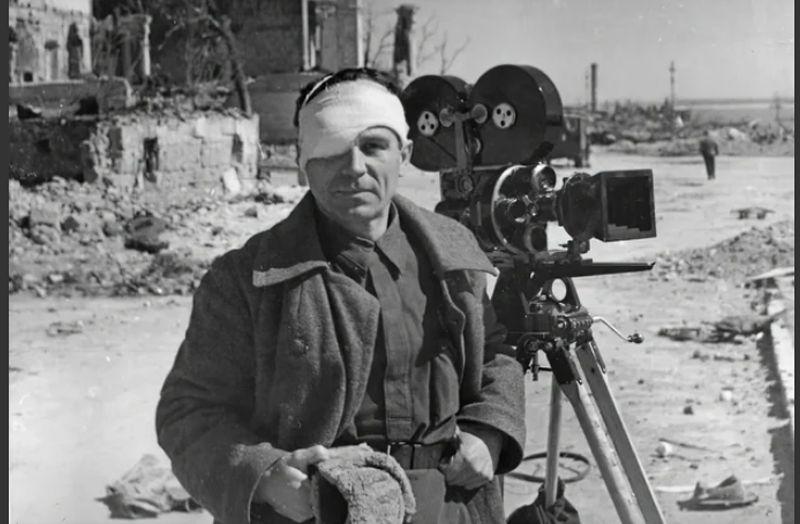 военный оператор Евгений Ефимов, постановщик фильма «Если завтра война» (хроника)-c