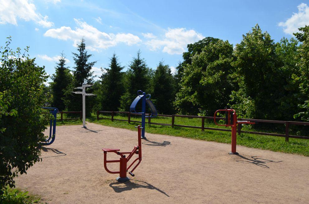 Спортивный городок для инвалидов-колясочеиков.