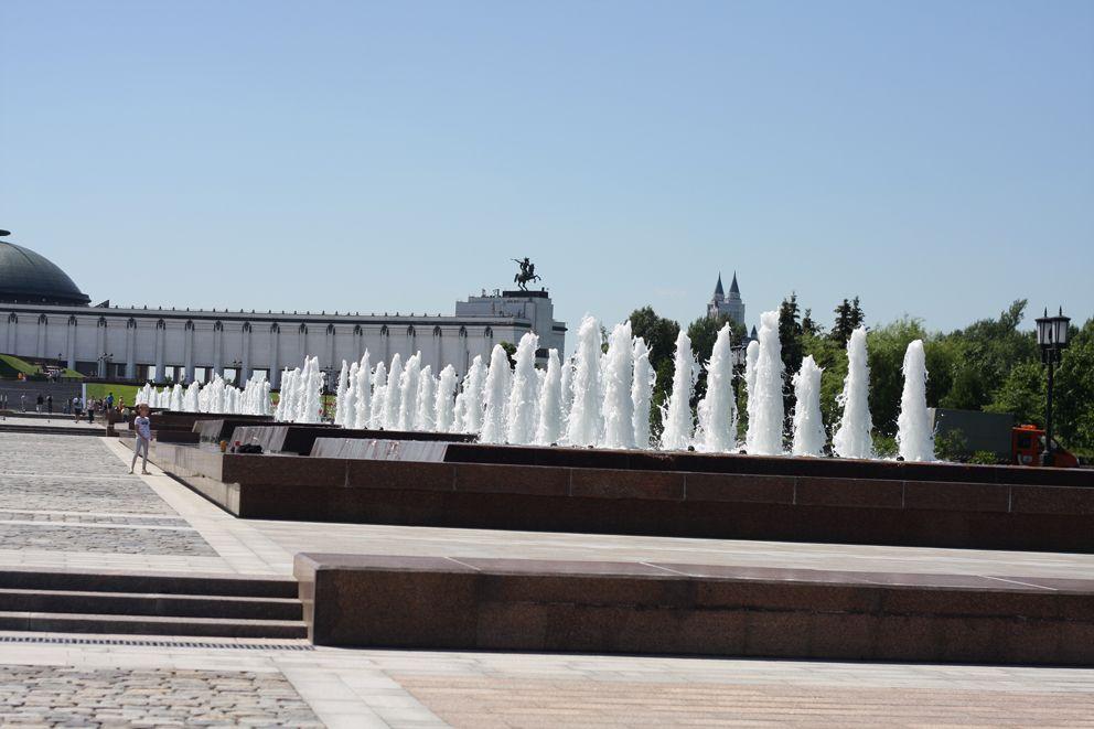 Фонтанный комплекс Годы войны