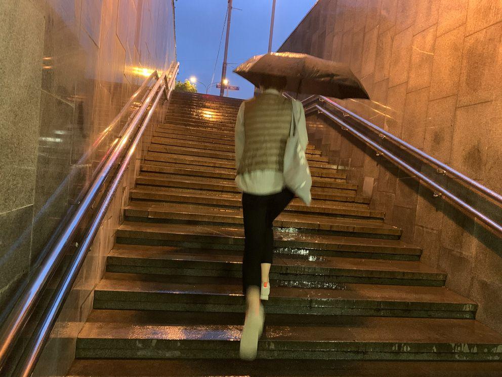 дождь, погода, лето, переход