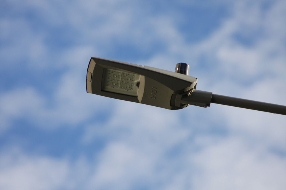 Современный уличный светильник