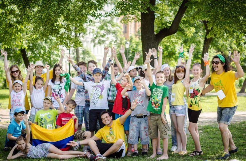 лагерь, дети, лето