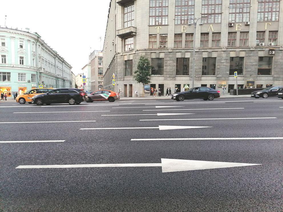 разметка, Тверская улица