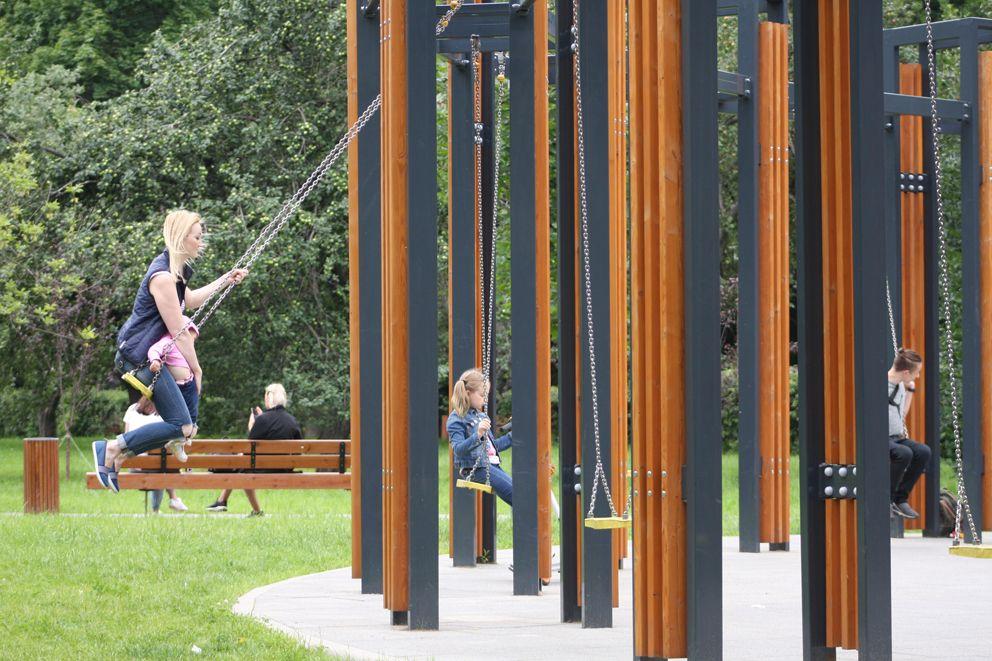 Качели в парке Дружбы