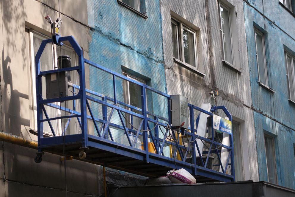 Люлька- самое нужное оборудование при ремонте фасада