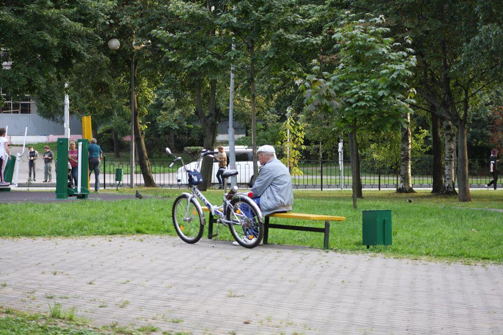 Отдых после велопрогулки
