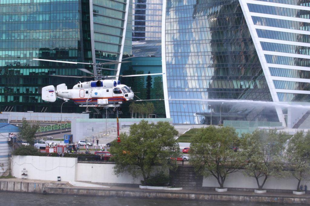 вертолеты МАЦ, пожар