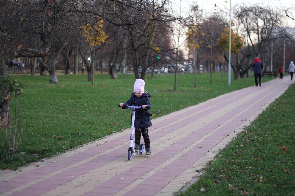 Пешеходная дорожка в Яблоневом саду
