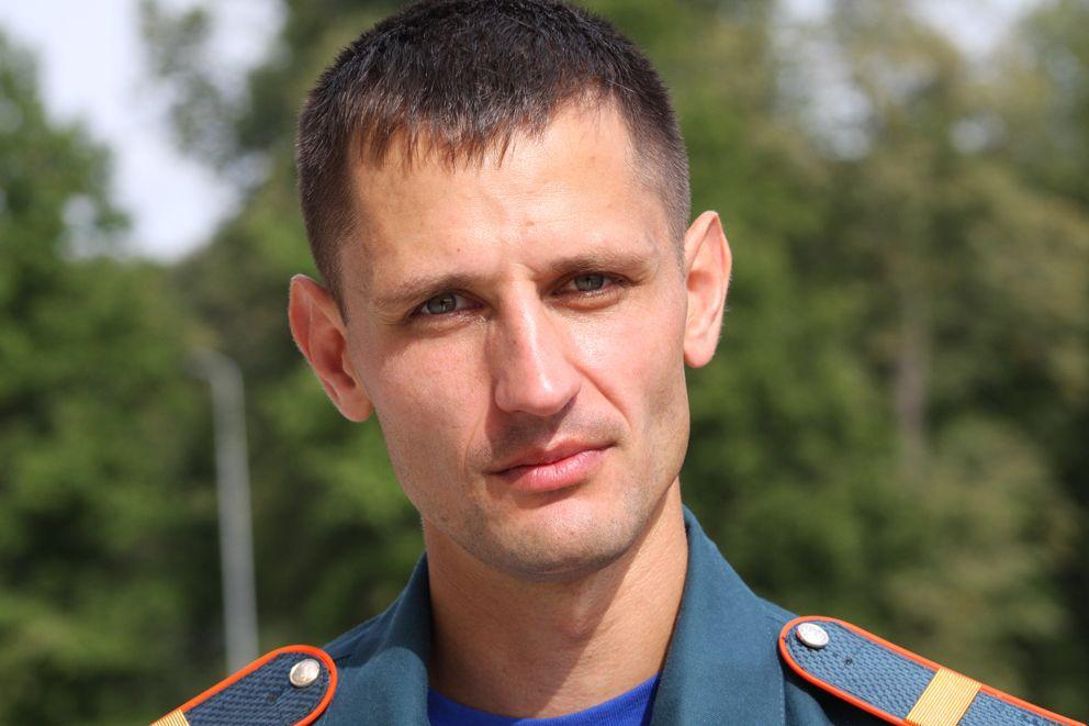 Победитель конкурса на звание лучшего пожарного Москвы 2020 года Александр Костин