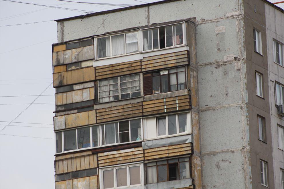 Торец здания до начала ремонта