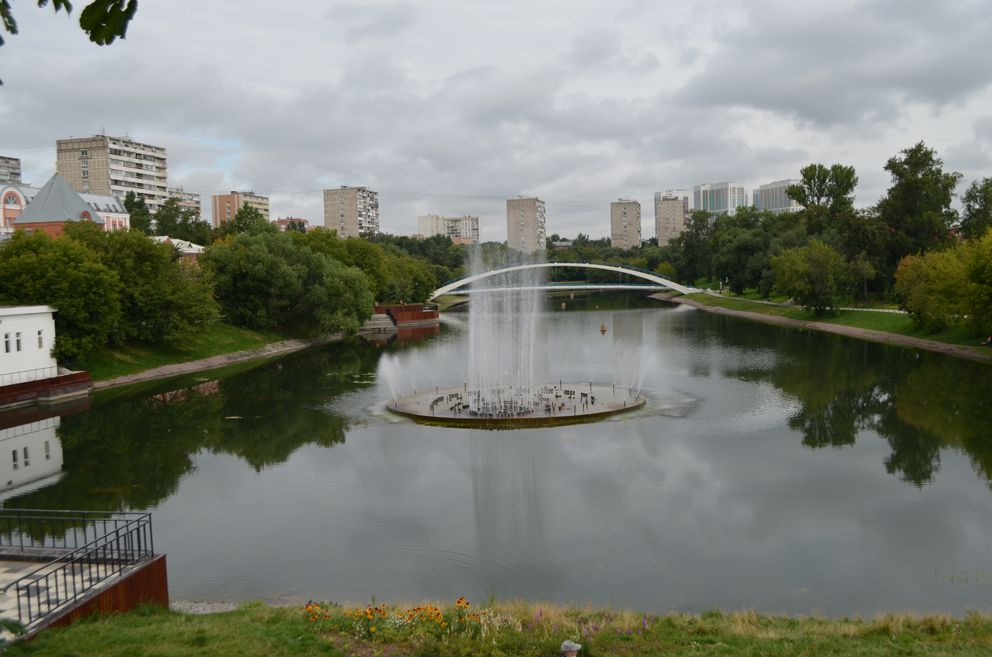 Черкизовский пруд, экология, фонтан