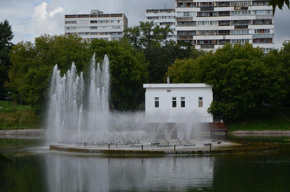 Черкизовский пруд, парк, фонтан