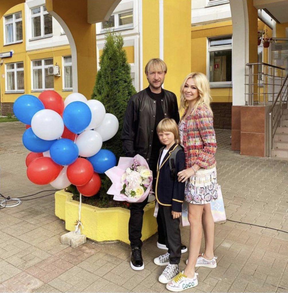 Евгений Плющенко и Яна Рудковская с Александром Плющенко