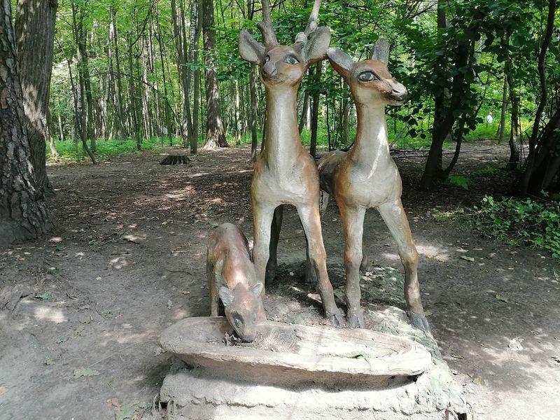 скульптура оленей, Измайловский парк