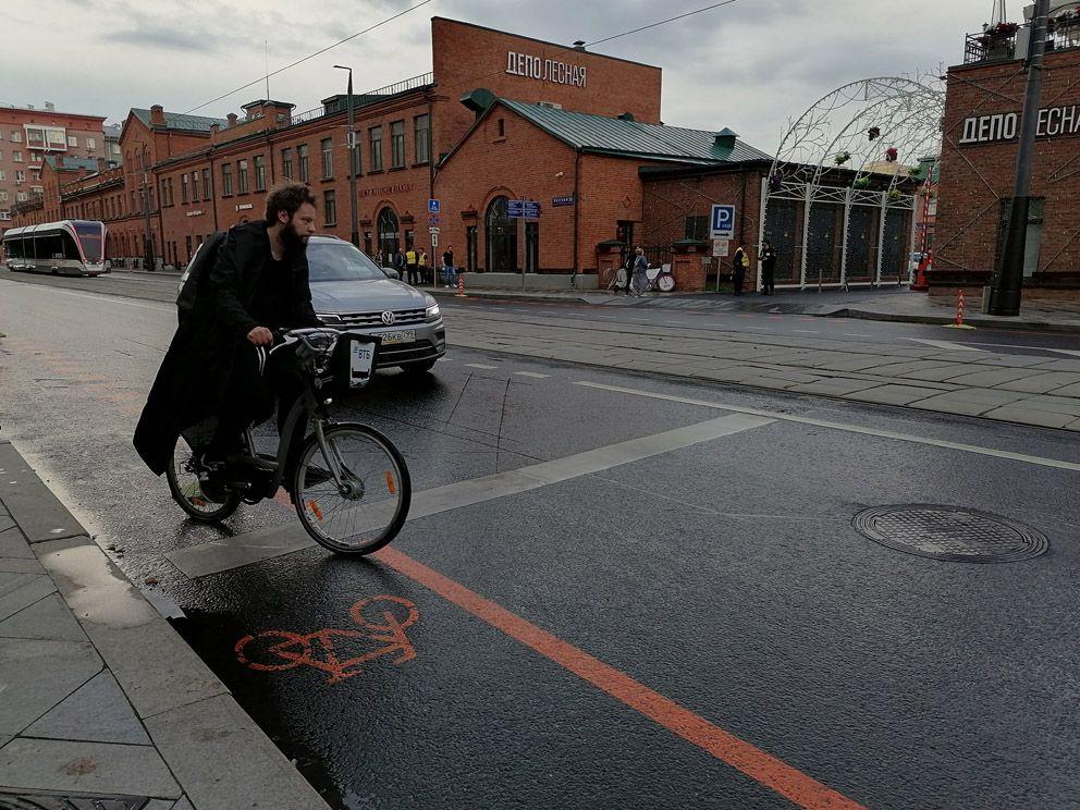 велодорожка, разметка