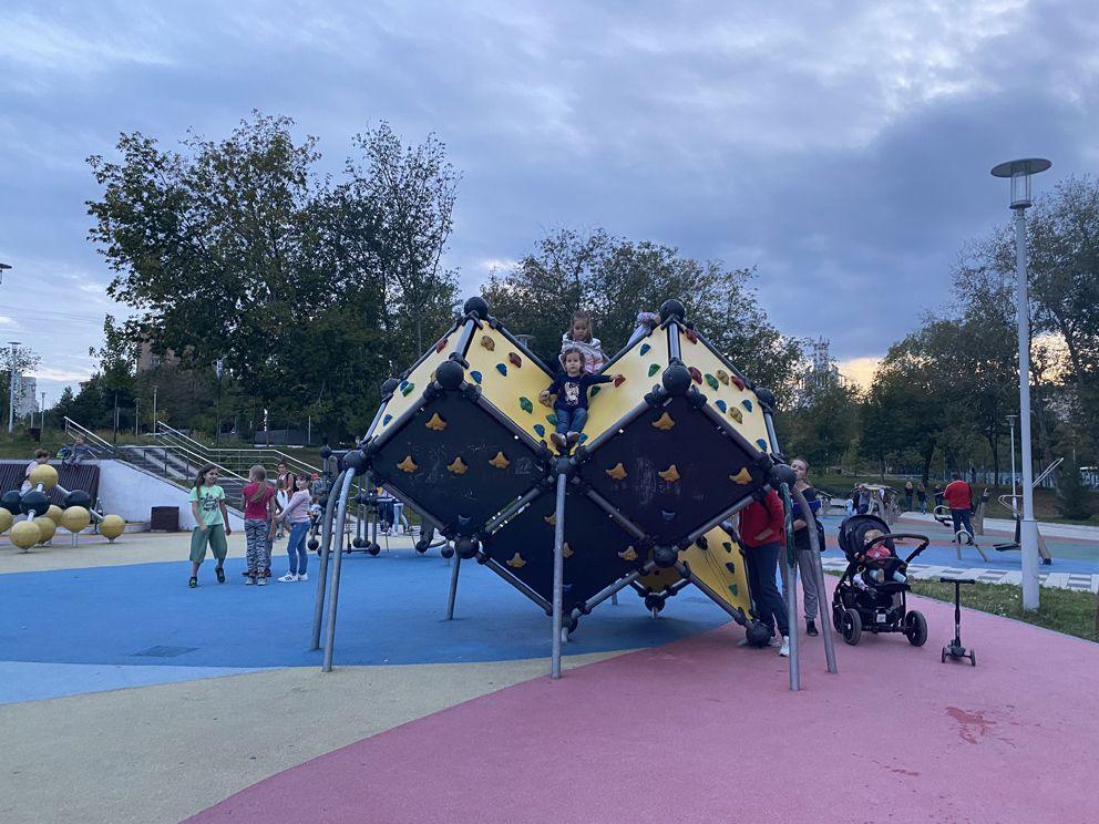 Детская площадка в Академическом парке