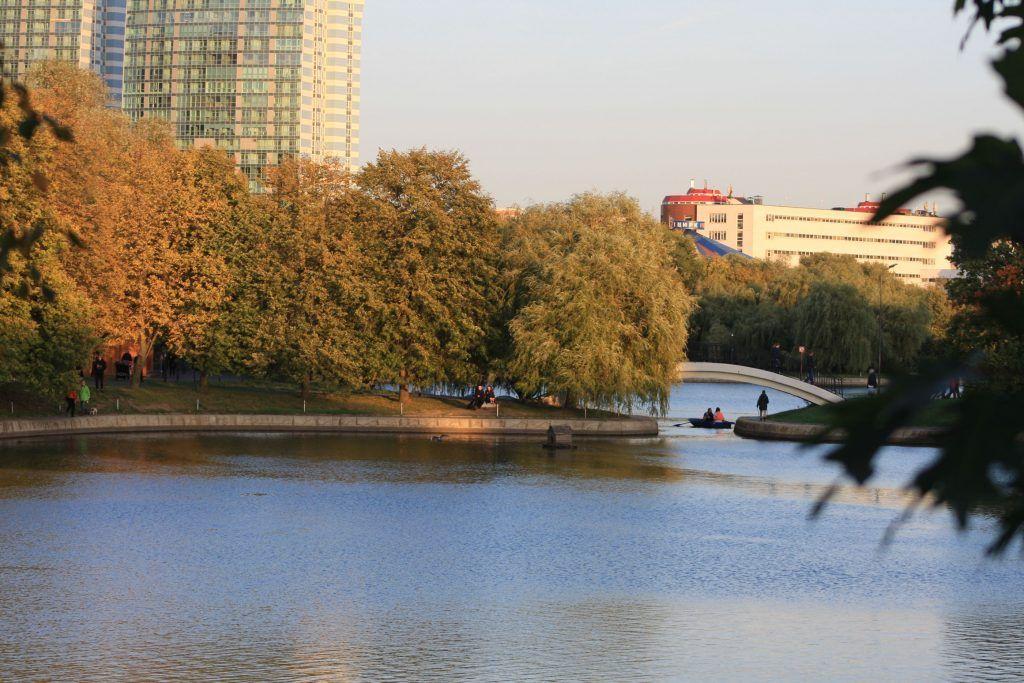 парк Дружбы, Фестивальные пруды, осень