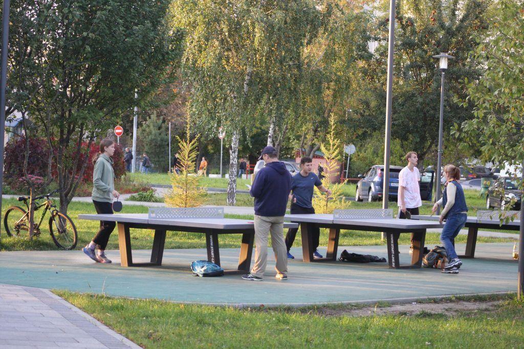парк Дружбы, спортивная площадка, пинг-понг