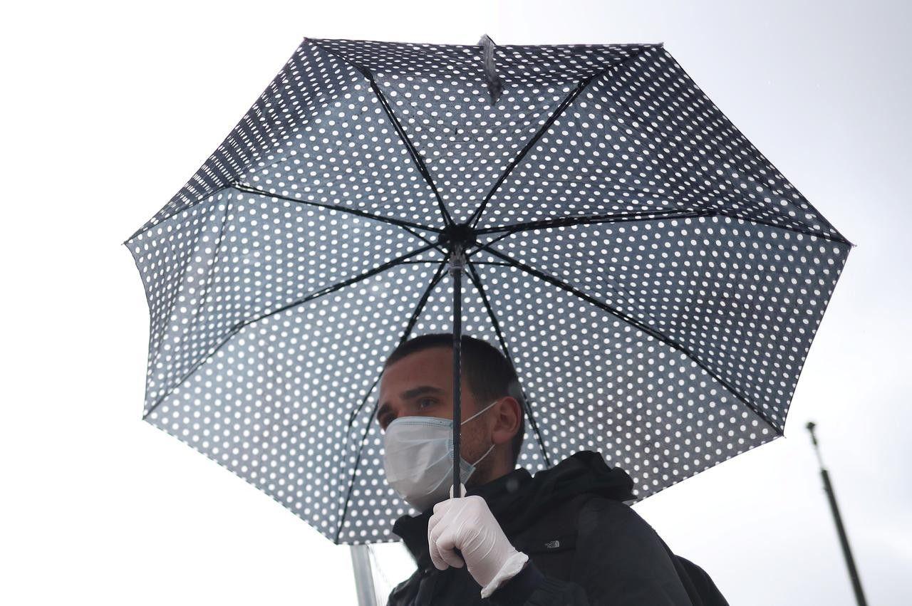 дождь, маска